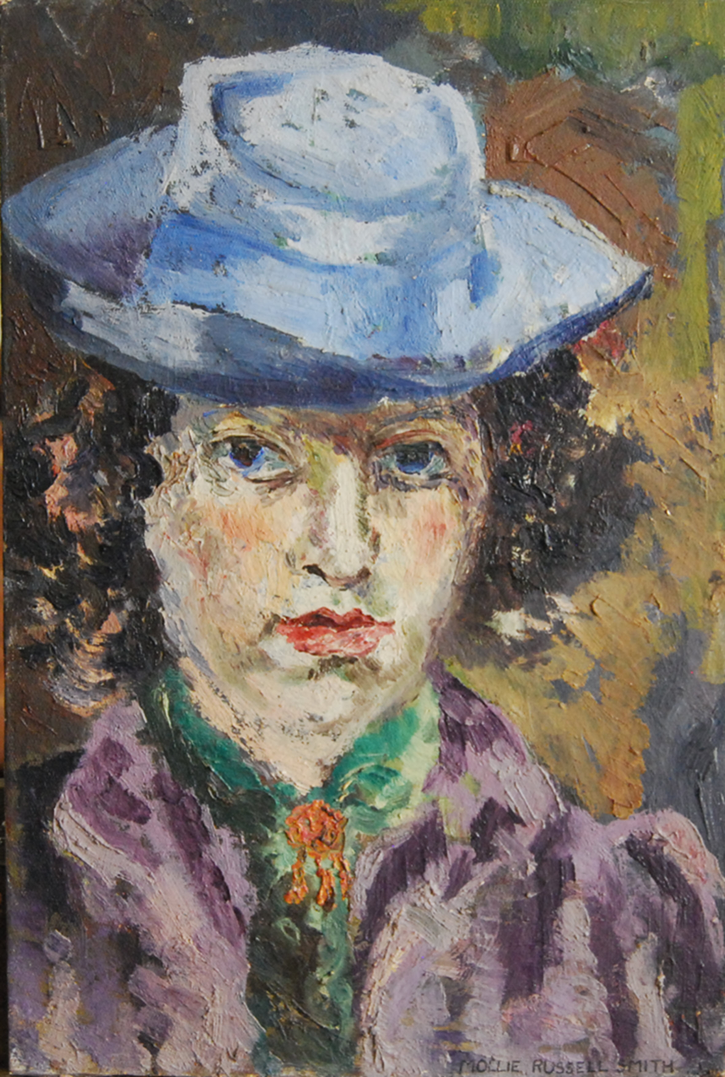 Self Portrait with Blue Hat